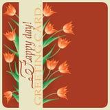 Tulips.Spring greetings. Royalty Free Stock Photos