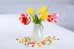 Tulips in vase Royalty Free Stock Photos