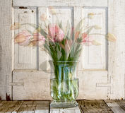 Tulips in vase Stock Photography