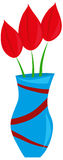 Tulips in the vase Royalty Free Stock Images