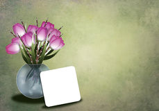 Tulips in a vase greetingcard Stock Photo