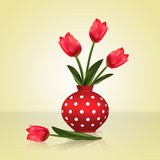 Tulips in a vase. Stock Photography