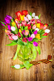 Tulips in the vase Royalty Free Stock Photos