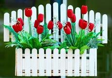 Tulips vermelhos falsificados Foto de Stock Royalty Free