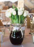 Tulips and wine Royalty Free Stock Photos