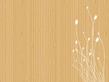 Tulips on wood. Background with tulips silhouettes over a light wood texture Royalty Free Stock Photo