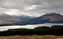 Tulla Landscape. A landscape featuring Loch Tulla in the Highlands of Scotland royalty free stock photos