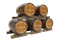 Tullamore Dew whisky wooden casks. Ireland Royalty Free Stock Photos