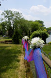 Tulle και λουλούδια Στοκ Εικόνα