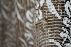 Tulle blanc et brun Photographie stock libre de droits
