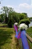 Tulle en bloemen Stock Afbeelding
