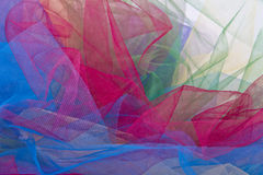 Tulle fabric  on white background Royalty Free Stock Photography