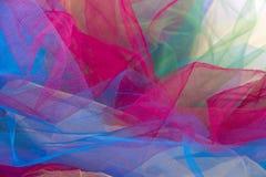 Tulle-Gewebe lokalisiert auf weißem Hintergrund Lizenzfreie Stockfotografie