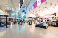 Tullfri diversehandel i Kuala Lumpur International Airport KLIA 2 Arkivfoton