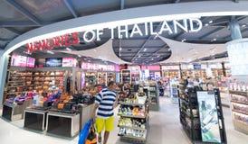 Tullfri shopping, Bangkok flygplats Royaltyfri Bild