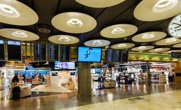 Tullfri vara i den Barajas flygplatsen Royaltyfri Foto