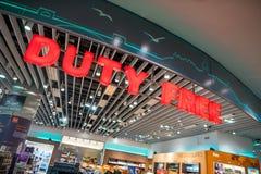 tullfria istanbul lysterar shoppar kalkonen Arkivbilder