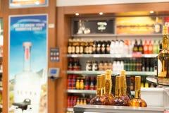 tullfria istanbul lysterar shoppar kalkonen royaltyfria bilder