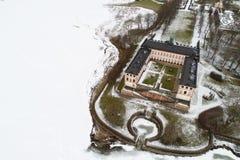 Tullgarn宫殿鸟瞰图 免版税库存照片