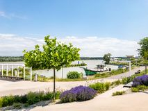 Tulln at the Danube River in Lower Austria. Tulln at the Danube River in Weinviertel. Lower Austria, Europe during summertime royalty free stock photo