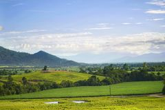 View of Tully rural area Royalty Free Stock Images