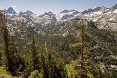 Tully Hole John Muir Wilderness, Kalifornien Royaltyfri Fotografi