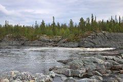 The Tuloma river in tundra Royalty Free Stock Photography
