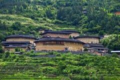 Tulou локомотивного депо Hakka огородило село, Фуцзянь, хи стоковое изображение
