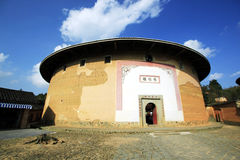 Tulou. These ancient architectures are located Yongding,Fujian province,China. China have 36 World Heritages,Fujian Tulou is one of them,Fujian Tulou ware built royalty free stock photo