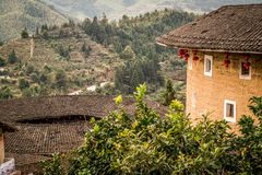 Tulou buildings in South China.  Royalty Free Stock Images