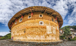 Tulou buildings in South China.  Royalty Free Stock Image