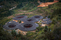 Tulou buildings in South China.  Stock Photos