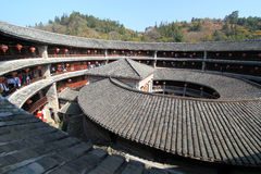 Tulou del Fujian Fotografie Stock
