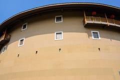Tulou, dubbel van de cirkel aarden de woningsbouw van Fujian stock foto's