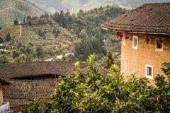 Tulou-Gebäude in der Südchina lizenzfreie stockbilder