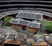 Tulou in porcellana Immagine Stock