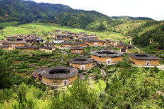 Tulou in porcellana Fotografie Stock