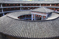 Tulou in porcellana Fotografia Stock