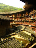 tulou zbudować ziemskiego Fujian. Zdjęcia Stock