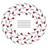 Tulpan dekorativa ram Fotografering för Bildbyråer