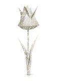 tulpan för blommaorigamipapper Royaltyfri Bild