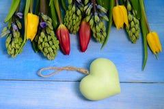 Tulpan och hyacinter Royaltyfri Fotografi