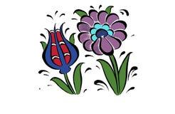 Tulpan och krysantemum Arkivbild
