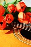 Tulpan och musik, holländska symboler Royaltyfria Bilder