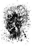 Tulpanblyertspennan skissar stock illustrationer