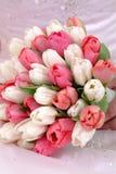 Tulpe-Blumenstrauß der Braut Stockbild