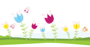 Tulpen royalty-vrije illustratie
