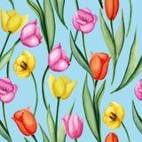 Tulpen blauw patroon vector illustratie