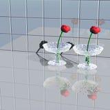Tulpen in den Vasen Stockfoto