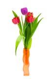 Tulpen in een Vaas Stock Foto